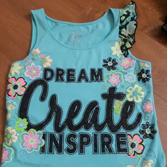 Justice Other - 5/$25-Justice Dream Create Inspire Tank